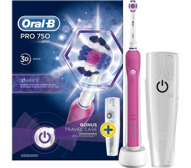 Oral-B PRO 750 3D White + pouzdro