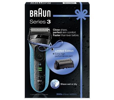 Braun Serie 3 3040s W&D + holící hlava 32B + DOPRAVA ZDARMA