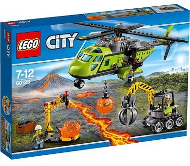 Stavebnice LEGO® CITY Sopeční průzkumníci 60123 Sopečná zásobovací helikoptéra + DOPRAVA ZDARMA