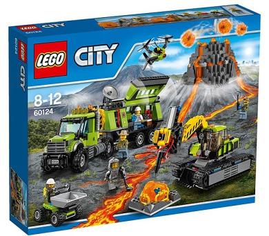 Stavebnice LEGO® CITY Sopeční průzkumníci 60124 Sopečná základna průzkumníků