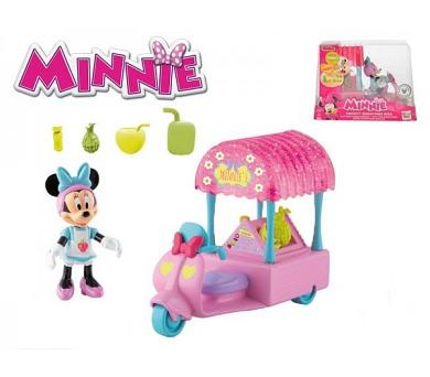 Minnie motorka plast 14cm s kloubovou figurkou 8cm s doplňky v krabičce