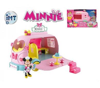 Minnie auto cukrárna 25cm na baterie se světlem a zvukem s kloubovou figurkou a doplňky v krabici + DOPRAVA ZDARMA