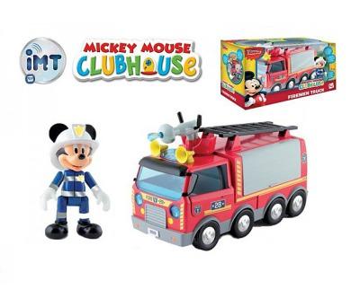 Mickey Mouse Clubhouse Hasiči plast 24cm na baterie se světlem a zvukem + kloubová figurka v krabici + DOPRAVA ZDARMA