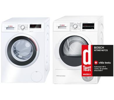 Bosch WAN24261BY + Sušička Bosch WTW87467CS + 100 dní možnost vrácení* + DOPRAVA ZDARMA