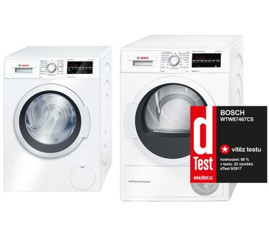 SET Pračka Bosch WAT24460BY + Sušička Bosch WTW87467CS