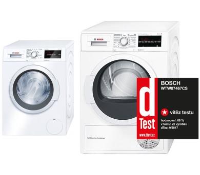 Bosch WAT20360BY + Sušička Bosch WTW87467CS + 100 dní možnost vrácení* + DOPRAVA ZDARMA