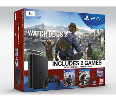 Sony PlayStation 4 SLIM 1TB + Watch_Dogs 1+2