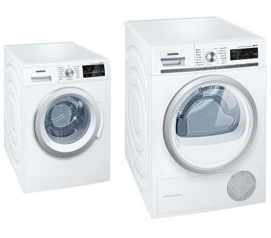 SET Pračka Siemens WM12T460BY + Sušička Siemens WT45W561BY kondenzační + 100 dní možnost vrácení*