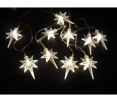 Světelný LED řetěz - Hvězdičky na baterky Massive 32308