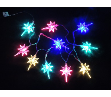 Světelný LED řetěz - Hvězdičky na baterky Massive 32315