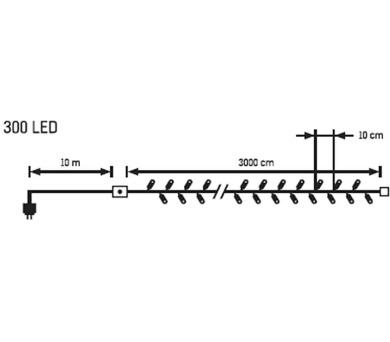 Světelný LED řetěz - 300 LED Massive 31936 + DOPRAVA ZDARMA
