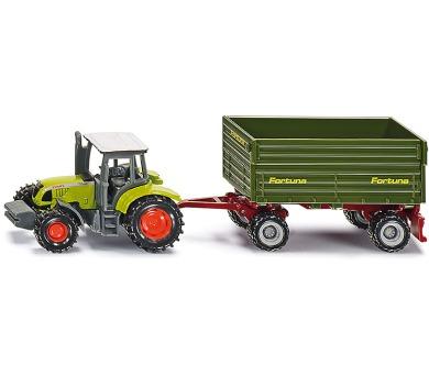 SIKU Blister - Traktor Fendt s dvounápravným přívěsem