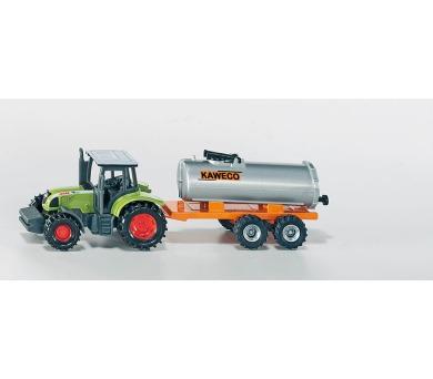 SIKU Blister - Traktor Claas s přívěsem na vakuové sudy