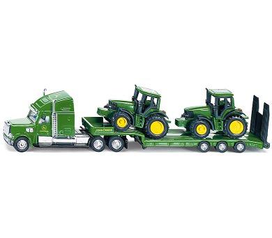 SIKU Farmer - Tahač s podvalníkem a traktory John Deere