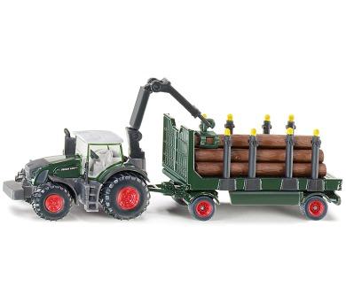 SIKU Farmer - traktor s lesním přívěsem 1:87