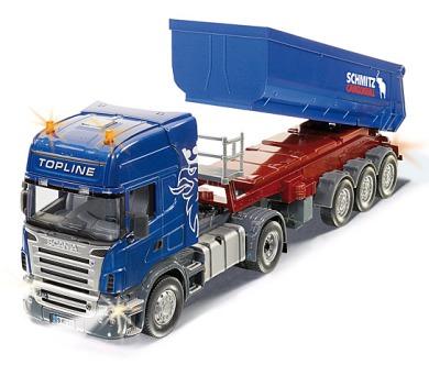SIKU Control - RC Tahač Scania R620 se sklápěcím návěsem a dálkovým ovládáním. 1:32,