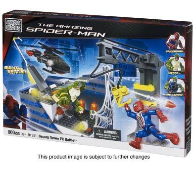 Micro - Spiderman - Speciální bojový set s helikoptérou a jeřábem