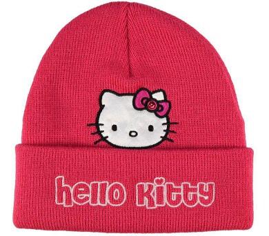 """Zimní čepice tm. růžová """"Hello Kitty"""" LICENCE"""