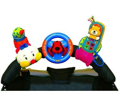 3 veselé hračky na přichycení suchým zipem (telefon