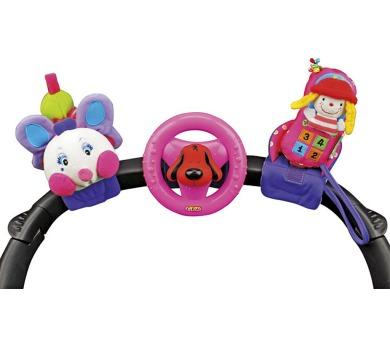 3 veselé hračky na přichycení suchým zipem pastelové barvy K´s Kids