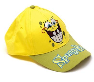 """* Letní kšiltovka """"Sponge Bob"""" žlutá"""