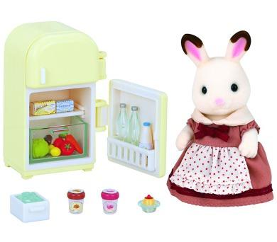 """Nábytek """"chocolate"""" králíků - mamka u ledničky Sylvanian family"""