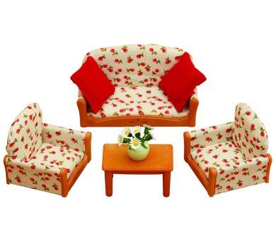Nábytek - sedací souprava se stolečkem Sylvanian family