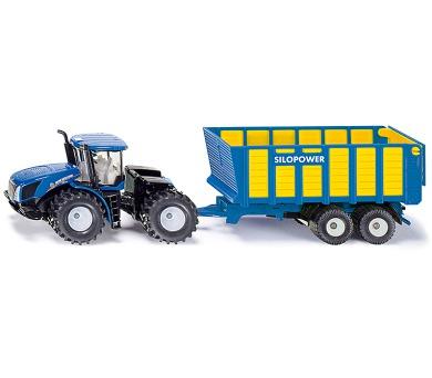 SIKU Farmer - Traktor New Holland s přívěsem Joskin