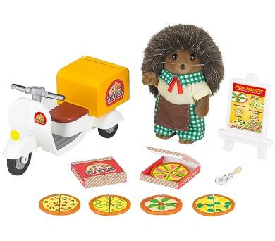 Rozvoz pizzy s příslušenstvím a jednou figurkou Sylvanian family