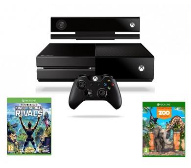 Microsoft Xbox One 500 GB Kinect + Kinect + Sports Rivals + Zoo Tycoon - černá