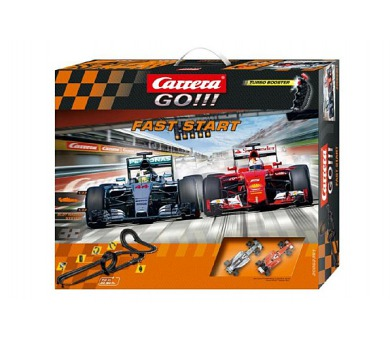 Autodráha Carrera GO!!! Fast start 7m + 2 formule v krabici 60x50cm + DOPRAVA ZDARMA