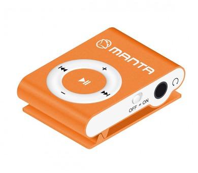 MANTA MM269C.OR - MP3 přehrávač oranžový.