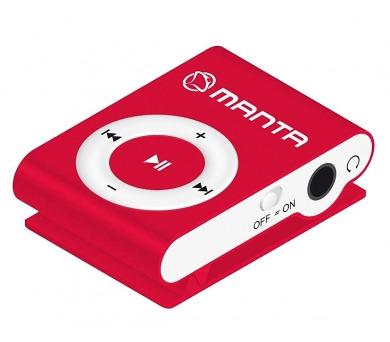 MANTA MM269C.CZ - MP3 přehrávač červený.