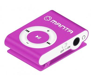 MANTA MM269C.PU - MP3 přehrávač fialový.