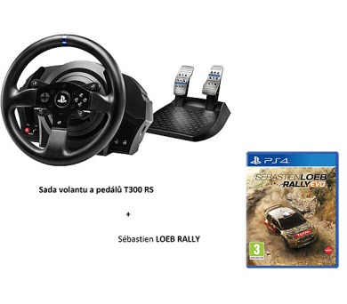 Thrustmaster T300 RS RALLY PACK + pedály + hra Sébastien Loeb Rally na PS4