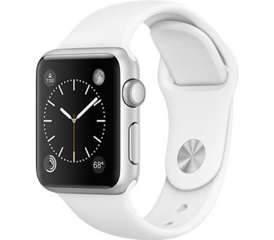 Apple Watch Series 1 38mm pouzdro ze stříbrného hliníku – bílý sportovní řemínek