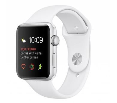 Apple Watch Series 1 42mm pouzdro ze stříbrného hliníku – bílý sportovní řemínek