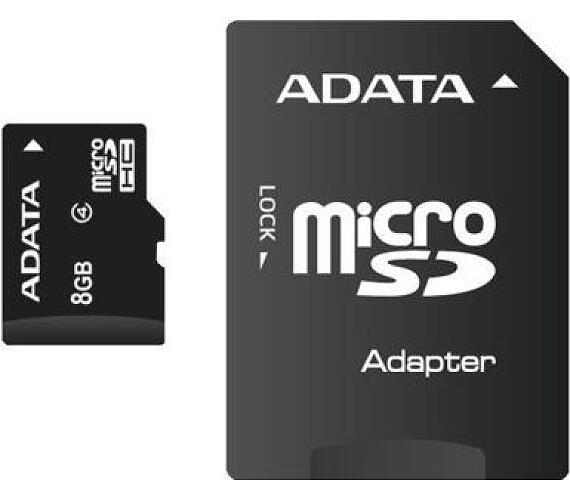 ADATA 8GB MicroSDHC Card with Adaptor Class 4 (AUSDH8GCL4-RA1)