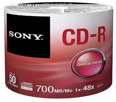 SONY CD-R 50CDQ-80SB,50ks pack
