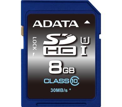 ADATA SDHC 8GB UHS-I Premier,Class 10 (ASDH8GUICL10-R)