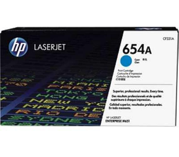 HP 654A - azurový Contract Toner + DOPRAVA ZDARMA