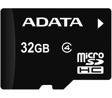 ADATA 32GB MicroSDHC Card bez adapteru Class 4 (AUSDH32GCL4-R)