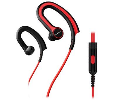 Pioneer závěsná sluchátka s ovládáním červená