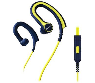 Pioneer závěsná sluchátka s ovládáním modrožlutá