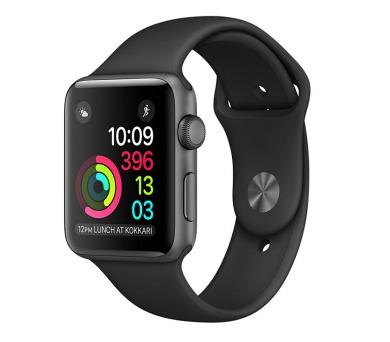Apple Watch Series 1 38mm pouzdro z vesmírně šedého hliníku – černý sportovní řemínek