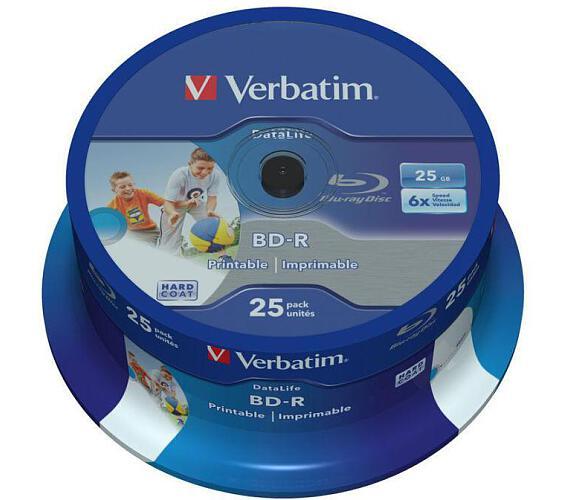 VERBATIM BD-R SL(25-Pack)Spindl/6x/25GB/Printable (43811)