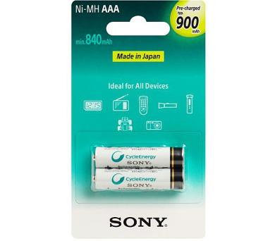 Sony NiMH AAA nabíjecí baterie 900mAh- 2ks