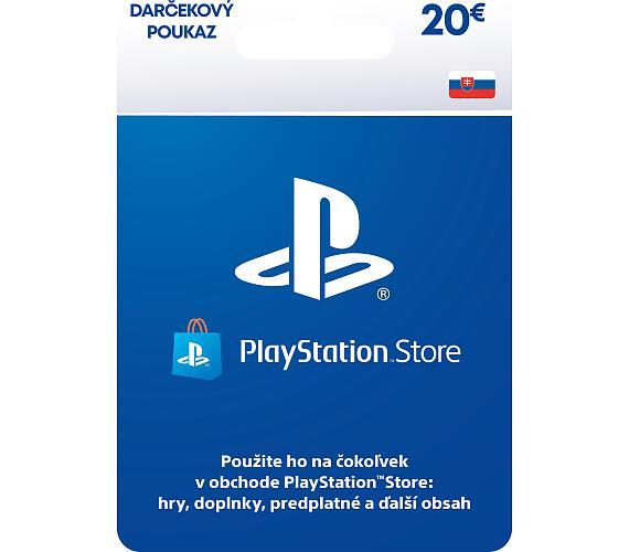 PlayStation Live Cards 20 EUR Hang pro SK PS Store + DOPRAVA ZDARMA