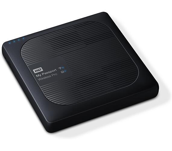 "Ext.HDD 2.5"" WD My Pass.Wireless Pro 3TB USB3.0,SD (WDBSMT0030BBK-EESN)"