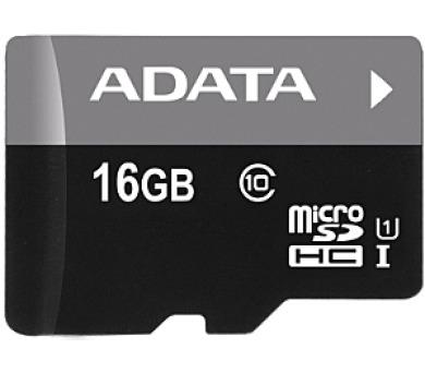 ADATA 16GB MicroSDHC Premier,class 10,with Adapter (AUSDH16GUICL10-RA1)